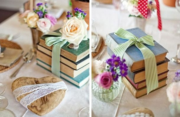 Vintage Wedding Reception Table Decorations