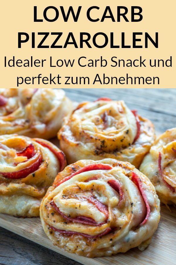 Low Carb Pizza Rollen - schnelles und einfaches Rezept zum Abnehmen. #gesund #diät #rezepte