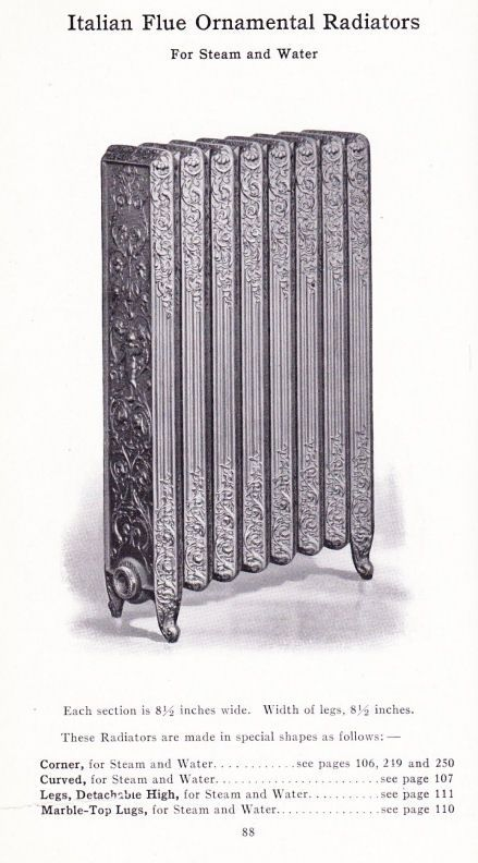 Page from old American Radiator Co. catalog (With images