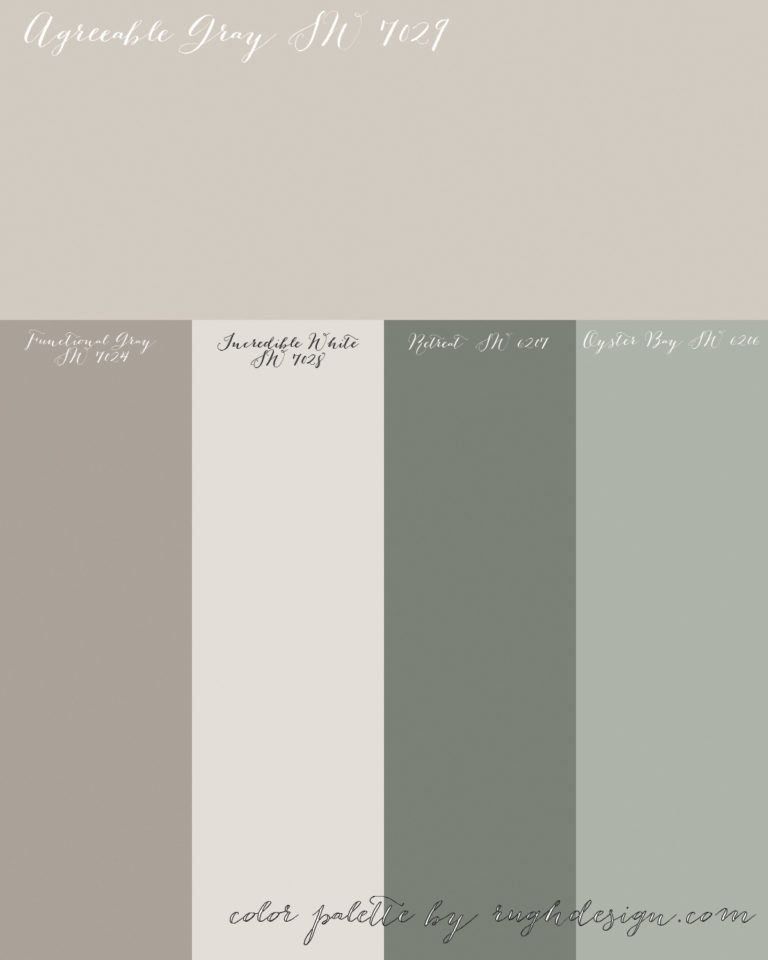 Agreeable Gray Sw 7029 With A Complementary Color Scheme With