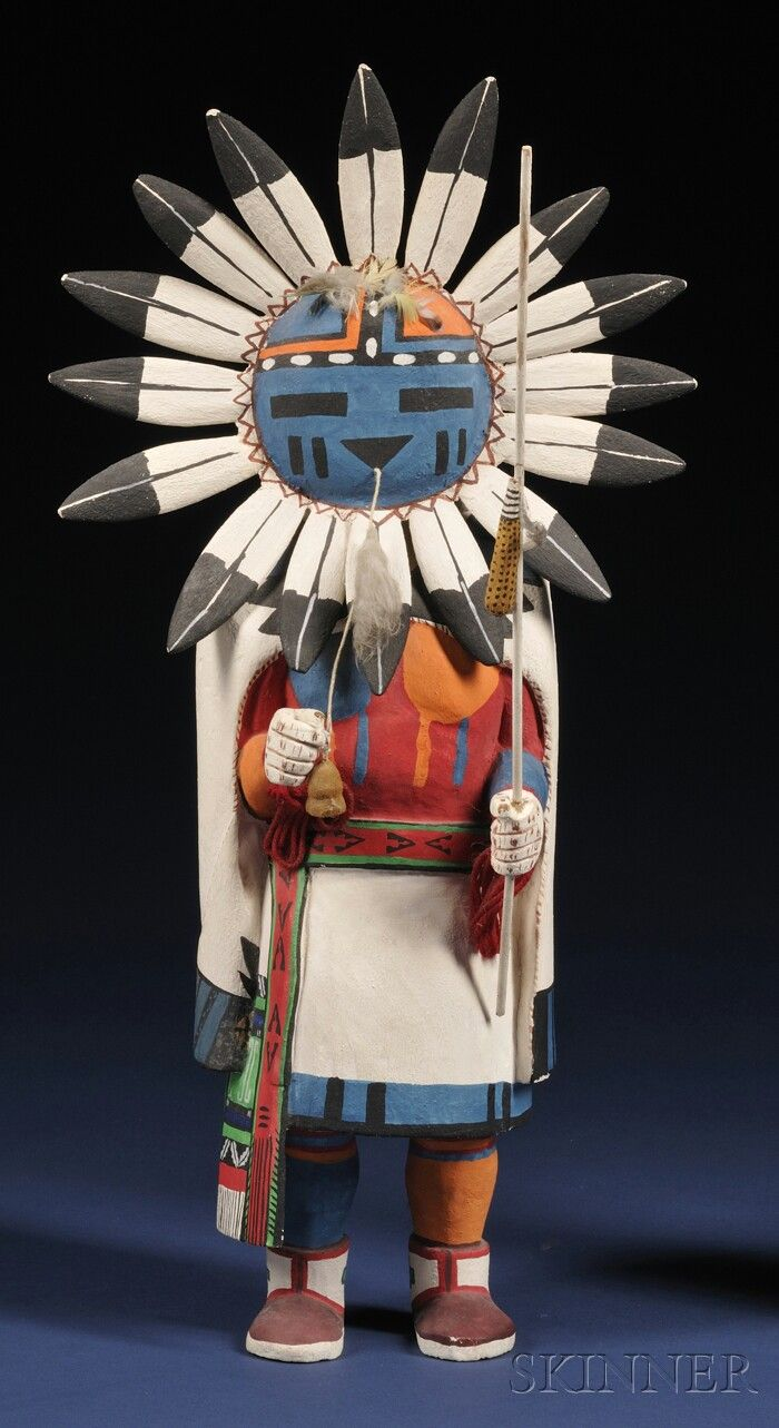Southwest Polychrome Carved Wood Kachina | Sale Number 2563B, Lot Number 415 | Skinner Auctioneers