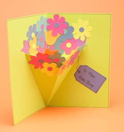 母の日の手作りカードの作り方 花束が飛び出すカードとアイディアいろいろ Interior Design Box 海外の使えるインテリア術 カード 手作り バースデーカード ポップアップカード