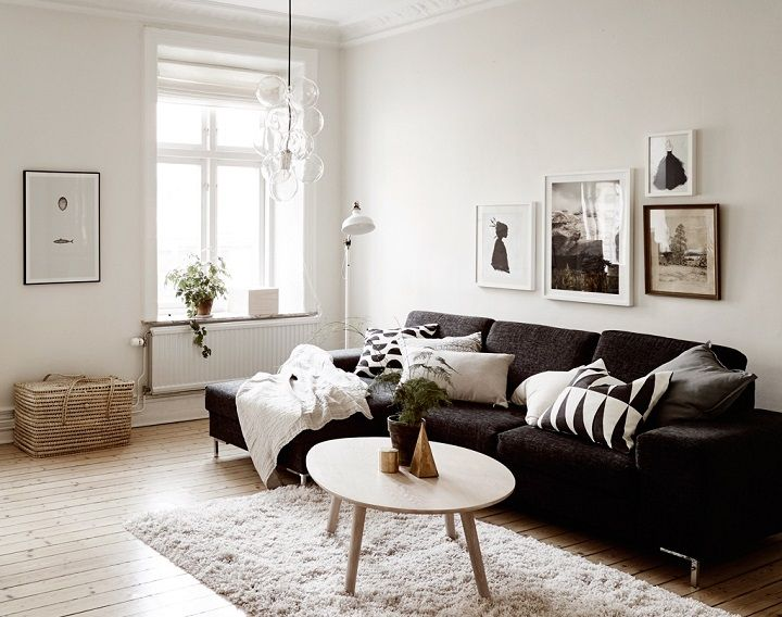 48 Black and White Living Room Ideas | White living rooms, Living ...