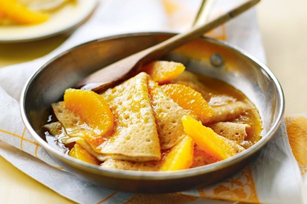 Take a few shortcuts and serve up these orange crepes for a yummy weekend breakfast.
