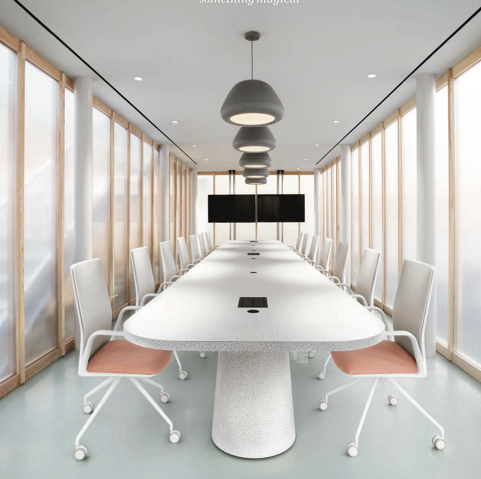 Campari Headquaters by I-V SETS with Arper's Kinesit chairs