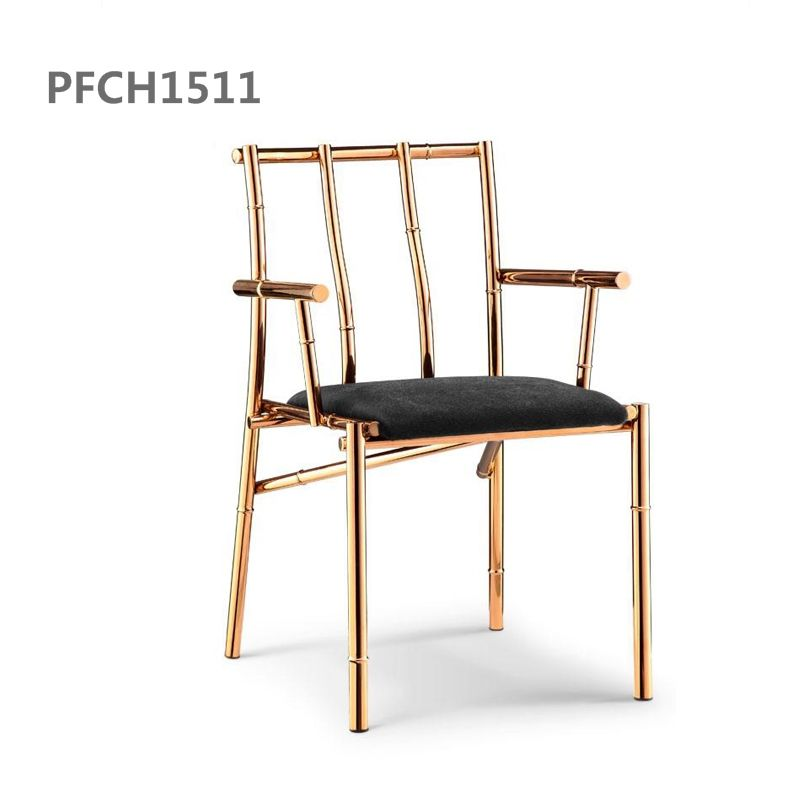 Stainless Steel Salon Furniture High Density Foam Cushion Chair