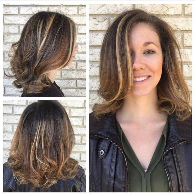 Partial Light Brown Highlights On Honey Locks Hair Styles