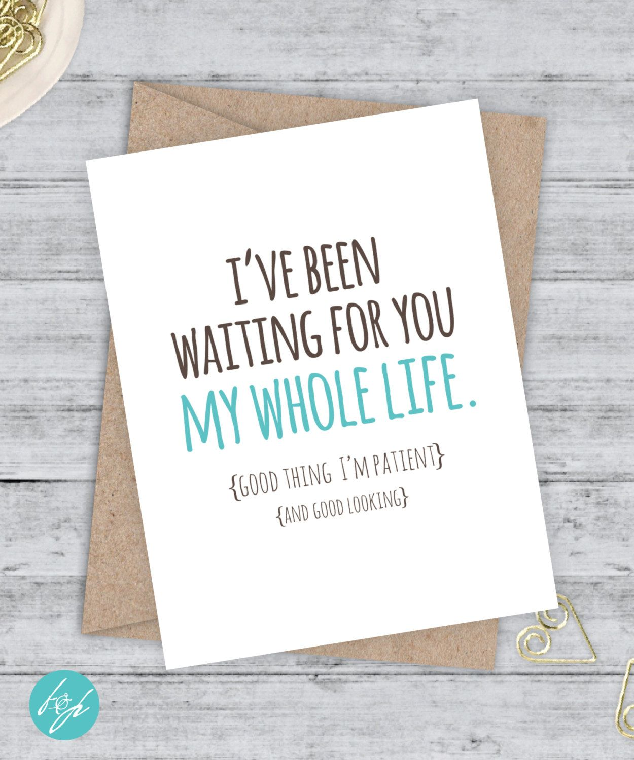 033C Anniversary Card Thinking of You Card Valentine/'s Day Card Really Like You Card Love Card Just Because Card Funny Love Card