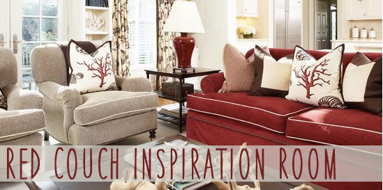 Reader Room Inspiration: How Do I Decorate With A Red Couch | Red Couch  Living Room, Modern Farmhouse And Coral