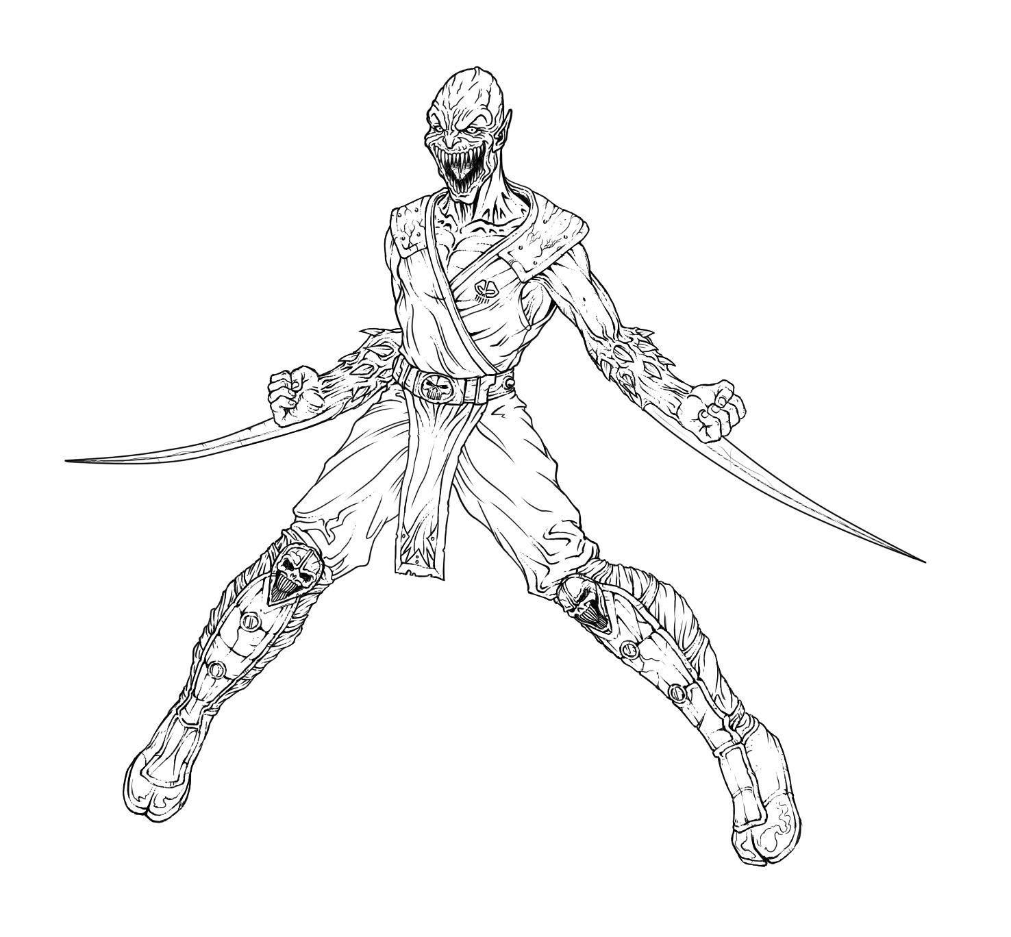 mortal kombat coloring pages - Free Large Images | isaiah bday ...