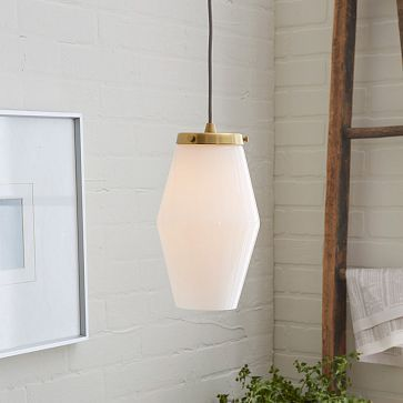 Mid century glass pendant single light pendantpendant light fixturesbathroom