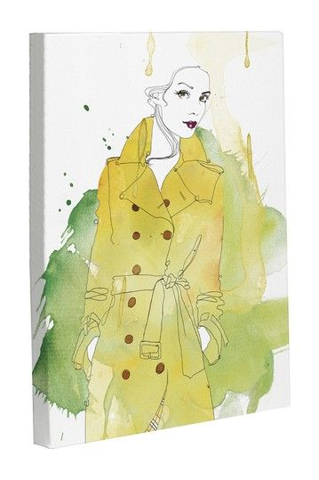 Burberry Raincoat Canvas Wall Art by Lightning E-Commerce on ...