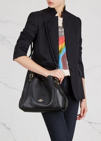 world-wide selection of world-wide renown diversified in packaging Coach Edie 28 black leather shoulder bag | Arm Candy in 2019 ...
