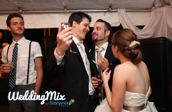 A party in your hand! WeddingMix will capture every fun and crazy moment.  And not just the wedding day, with their app you can video the shower, bachelorette party, honeymoon, and more! Then they edit the best stuff into a fun video - pretty cool.
