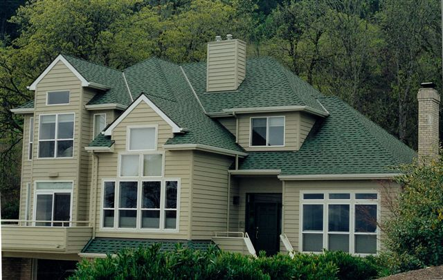 Residential Projects Sprick Roofing Co Inc Green Roof House House Roof Exterior House Colors