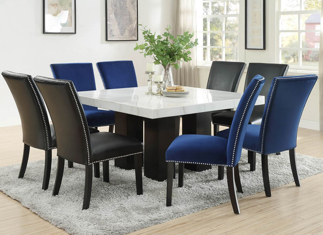 Camilla Square Dining Set In 2021 Square Dining Tables Dining Furniture Dining Room Blue