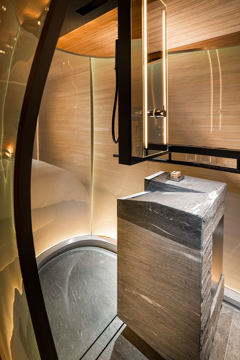 Thom Mayne Adds Guest Rooms To 7132 Hotel In Switzerland Luxury Hotel Room Hotel Room Design Hotels Design