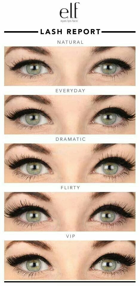 cf8bb9f834a Elf false lashes guide | Beauty | Makeup, Eye makeup, Different ...