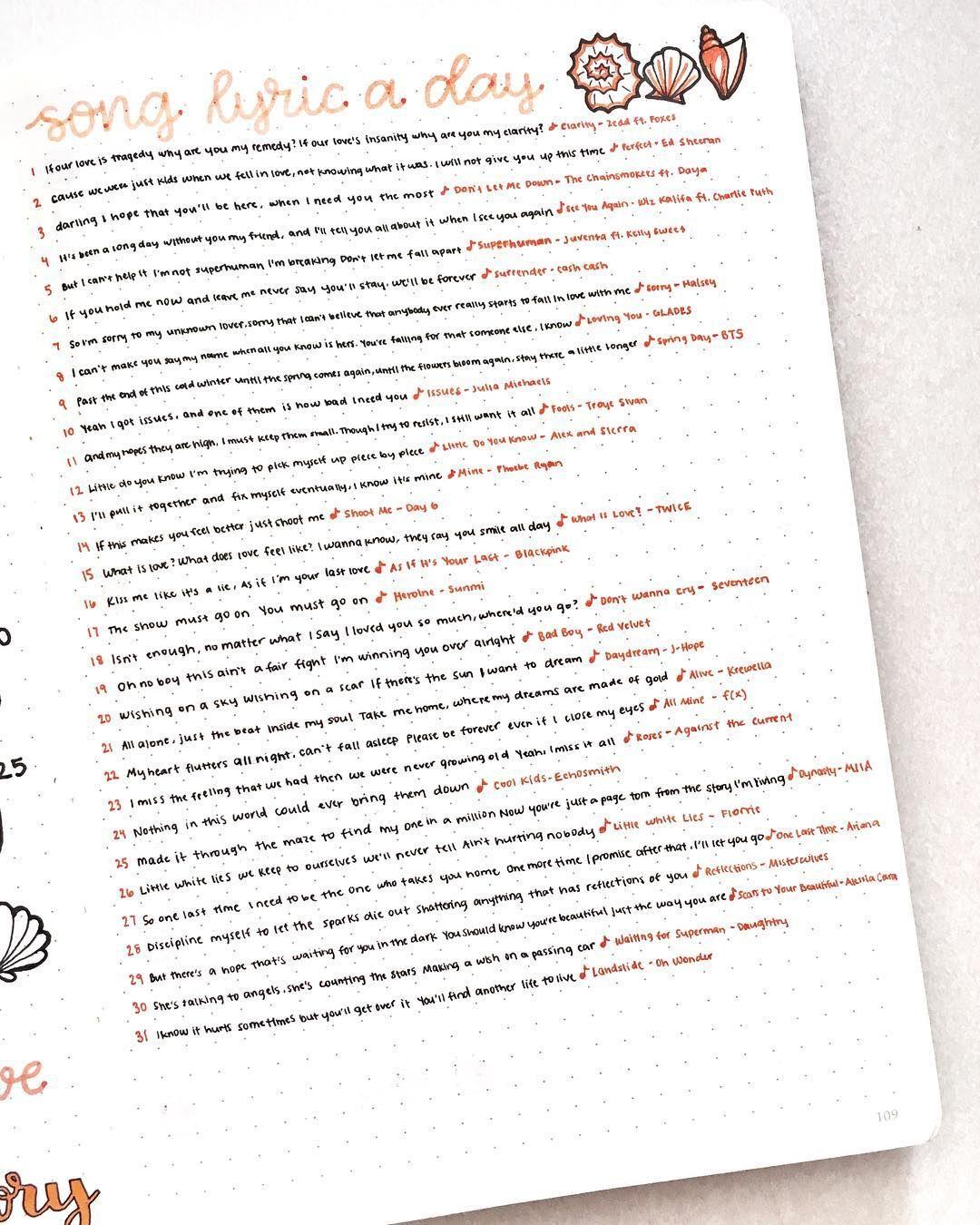 Its Log Song : María, Bullet, Journal, Ideas, Inspo,, Inspiration,