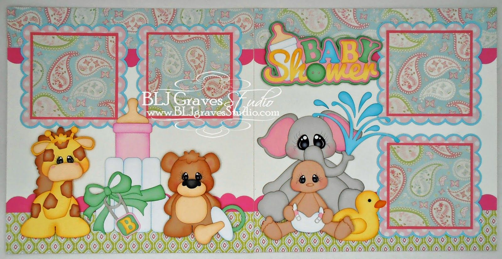 Baby Shower Scrapbook Pages Part - 16: BLJ Graves Studio: Baby Shower Scrapbook Pages