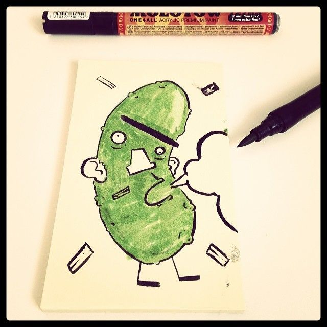 A Quick Sketch Of A Pickle While My Non Pickle Related Lunch Microwaves At Work Art Illustration Pickle Drawing Doodle S Sketch Book Quick Sketch Doodles