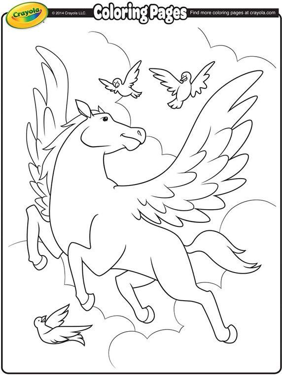Pegasus on crayola.com | WHAT MY DAUGHTER LIKES | Pinterest