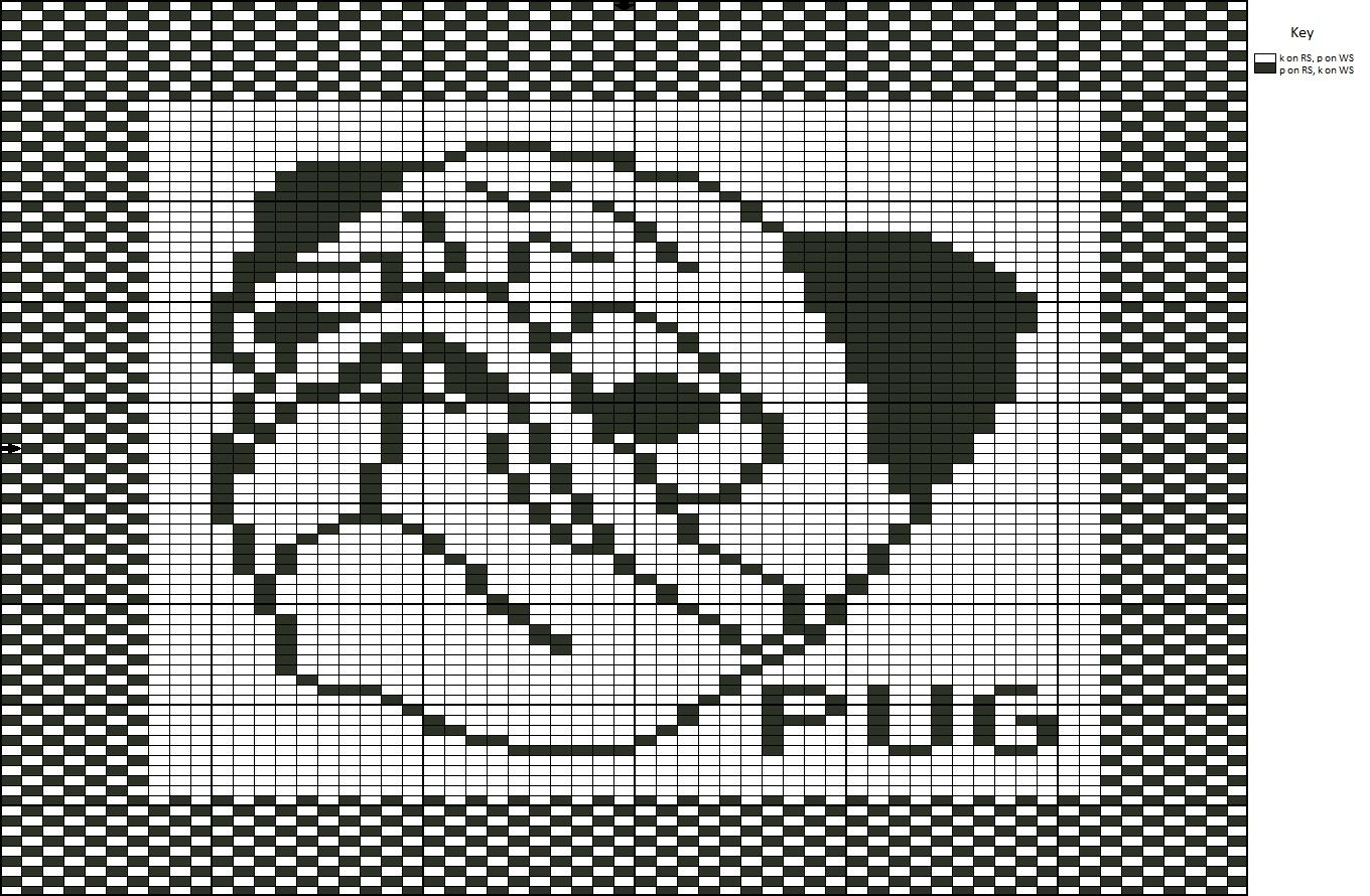 Knit one, Stitch one, Save one?: Free Pattern: Pug Dog Washcloth ...