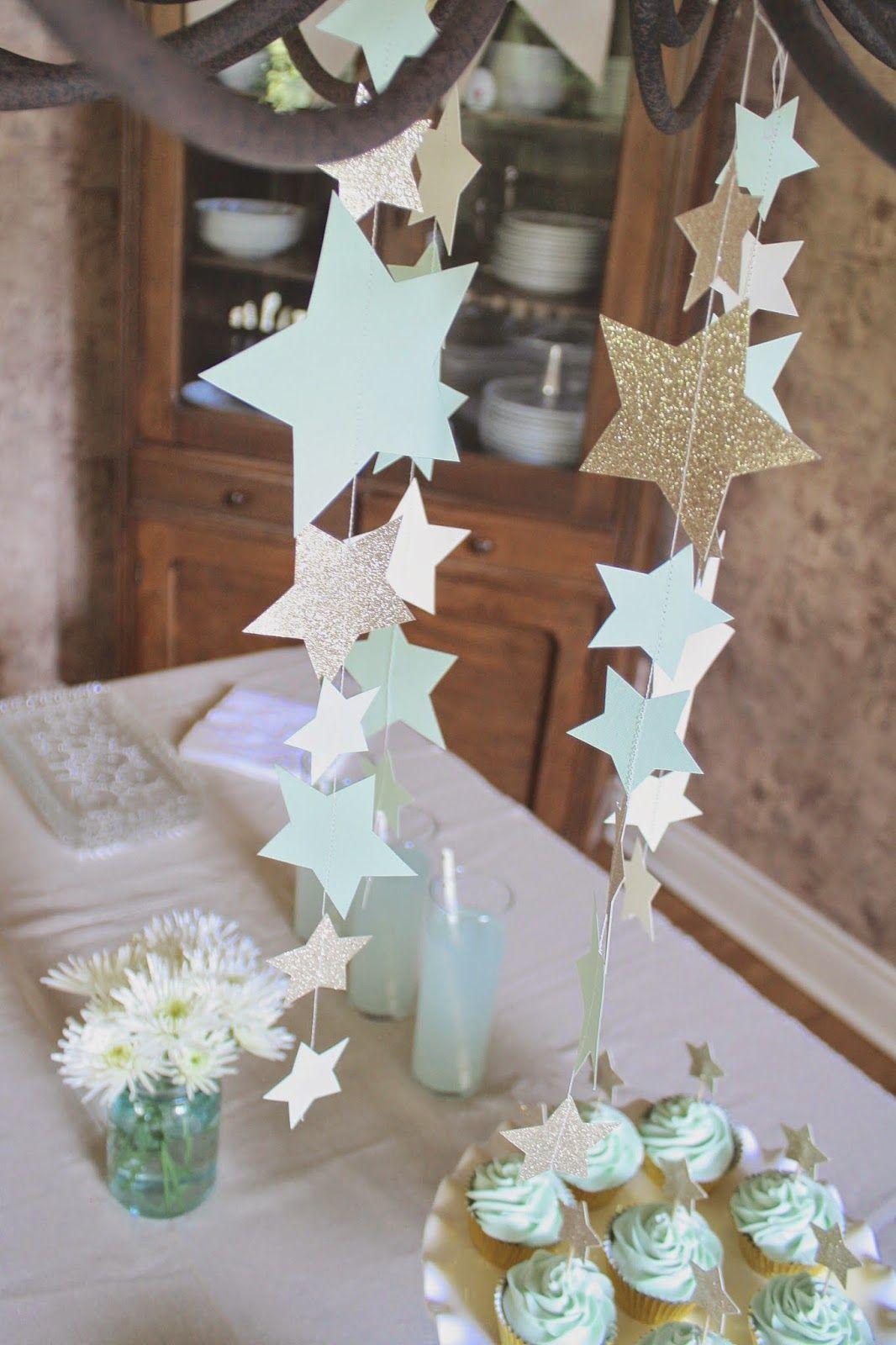 12 Star Paper Straws Twinkle Twinkle Little Star Decor Twinkle Star Mint Mint Gold Baby Shower Twinkle Twinkle Little Star Birthday
