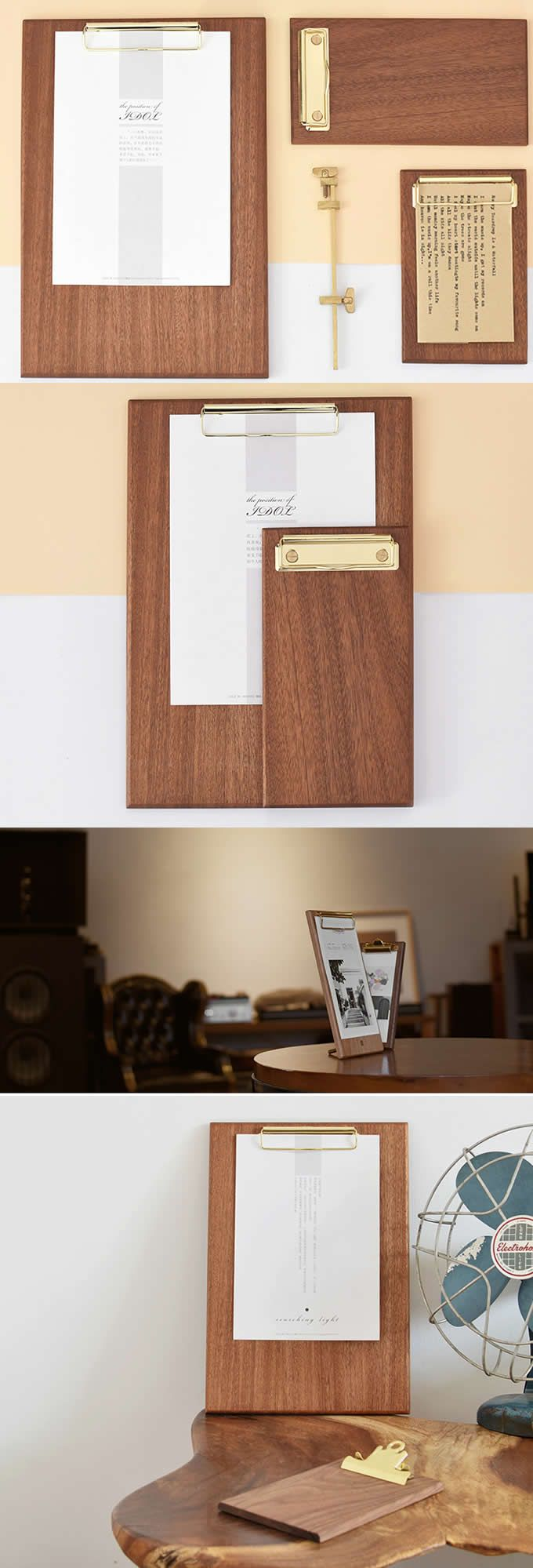 Wooden Folder Clip Clipboard Frame To Display Pictures Artwork Or