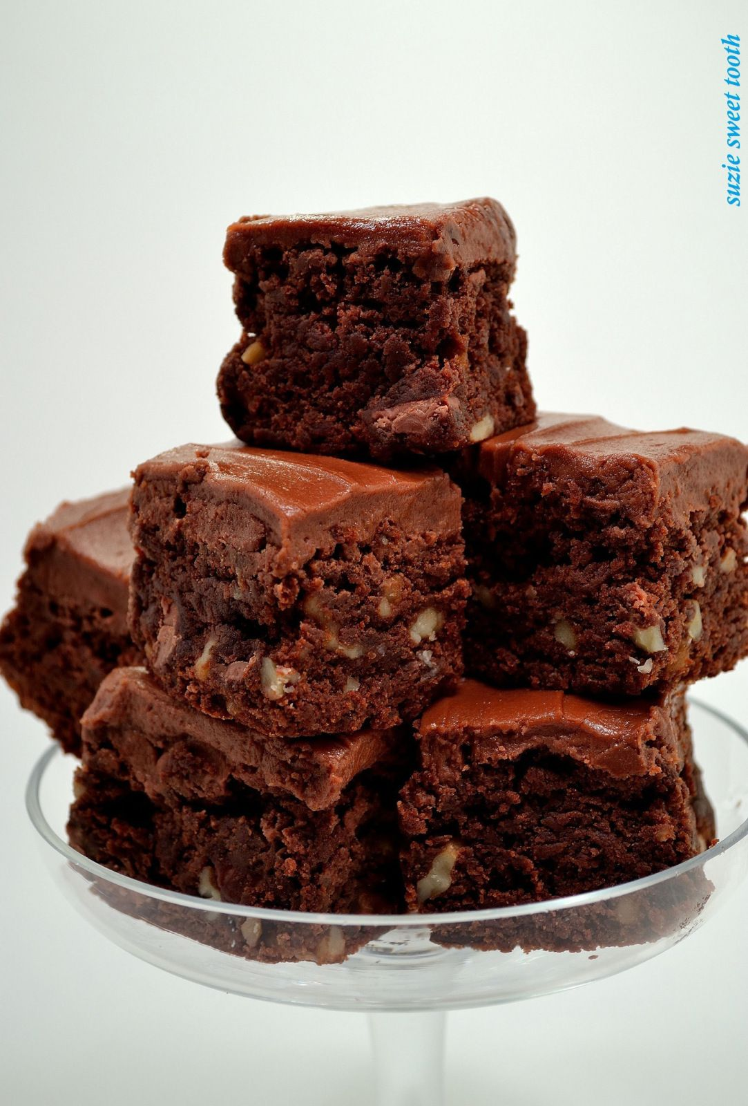 Fudgy Walnut Brownies with Milk Chocolate Frosting
