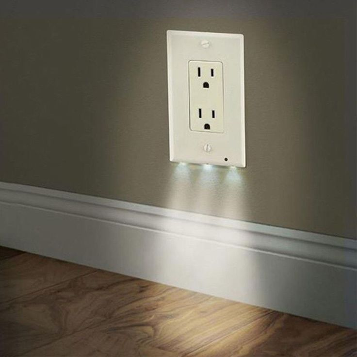 led nightlight wall outlet easy install you don t have to on wall outlet id=71378