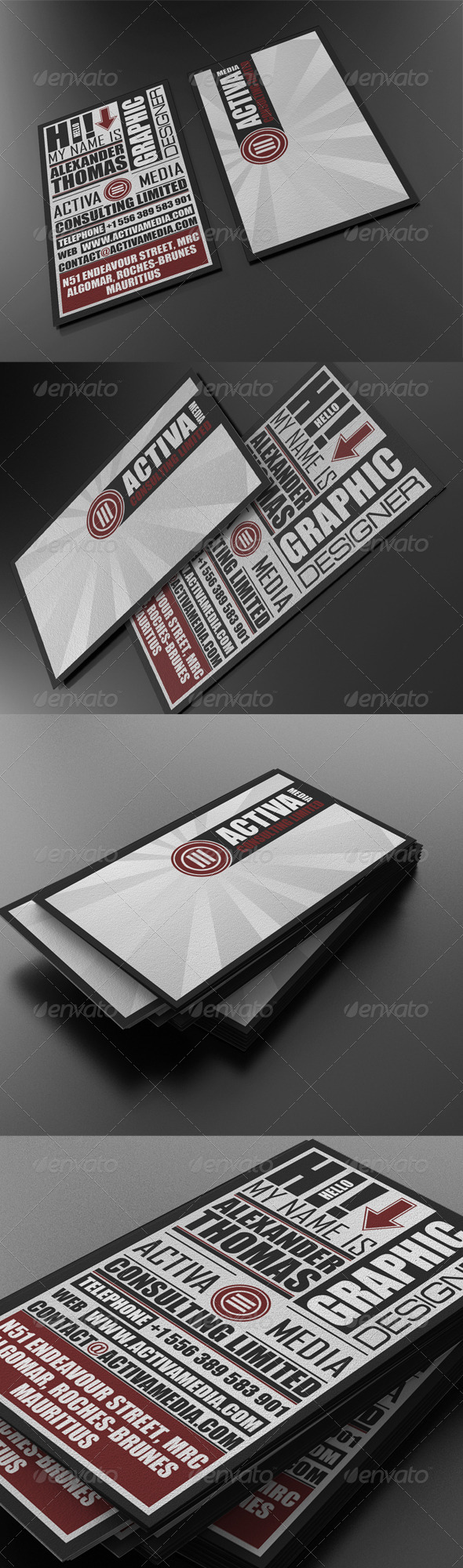 More Great Business Card Templates from GraphicRiver | business ...