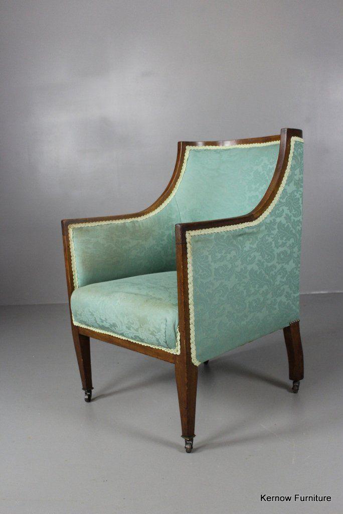 Edwardian Armchair Edwardian Furniture In 2019 Chair Retro Armchair Armchair