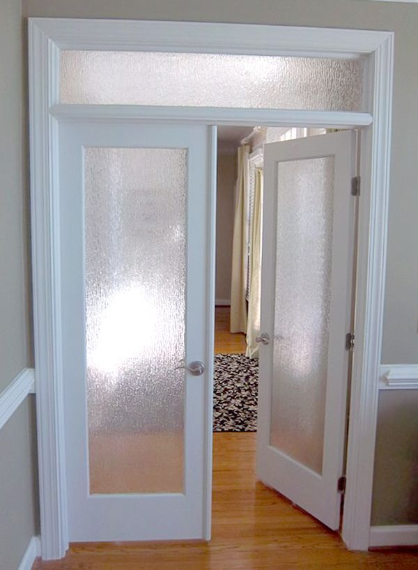 Interior french door obscure glass door co on our for Interior glass french doors