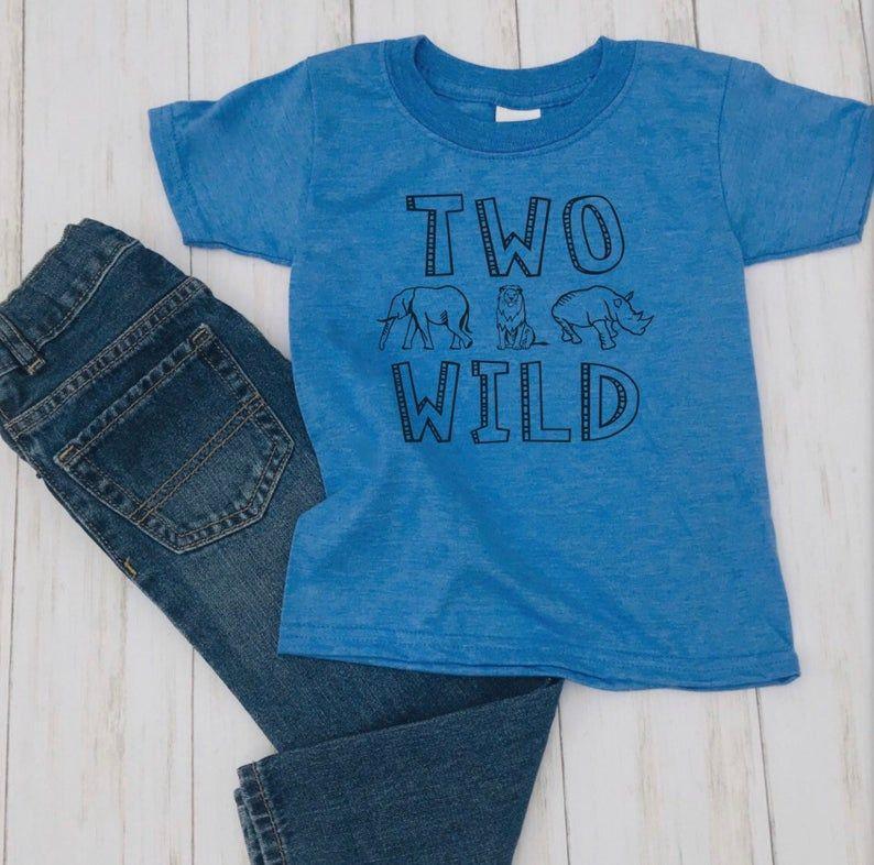 Two Wild Birthday Shirt Sencond Birthday Two Wild Graphic