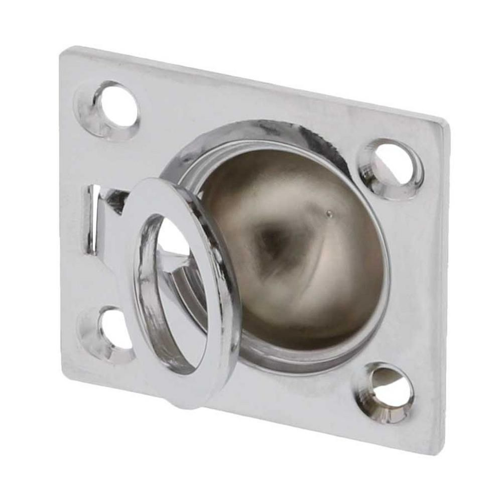 Ultra Hardware 1 1 2 In X 1 3 4 In Chrome Flush Pull Ring 96411 Chrome Hardware Home Depot