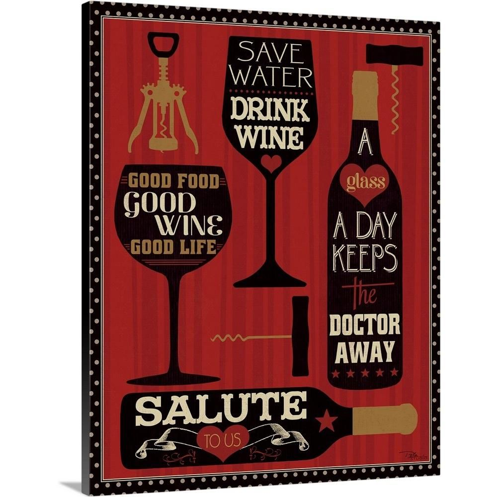 Greatbigcanvas Wine Words Ii By Pela Studio Canvas Wall Art 2174890 24 16x20 The Home Depot Wine Art Abstract Canvas Painting Canvas Wall Art
