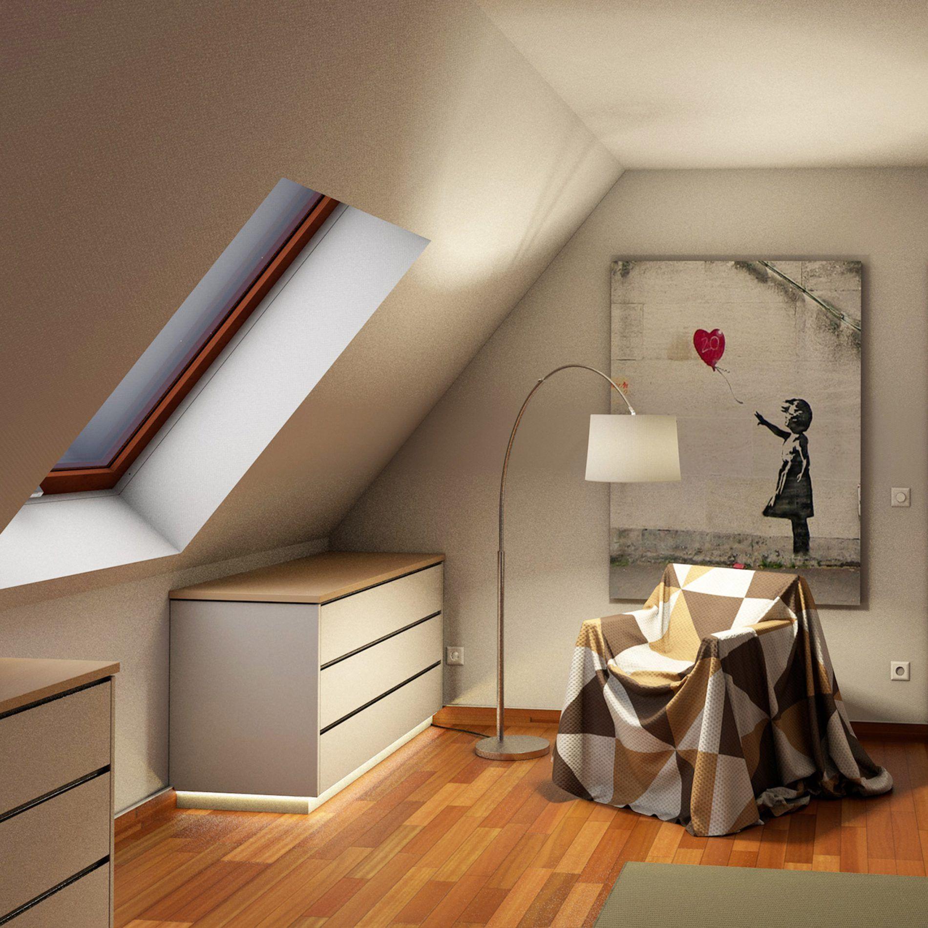 Mehrteiliger Drempelschrank Für Dachschrägen Im Obergeschoss Dachgeschoss Schlafzimmer Dachschräge Einrichten Dachboden Renovierung
