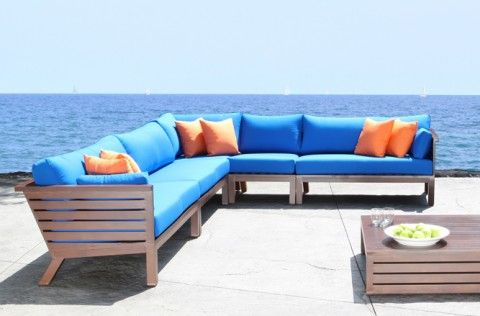 Apex Outdoor Sectional Cast Aluminum Cabana Coast Residential And