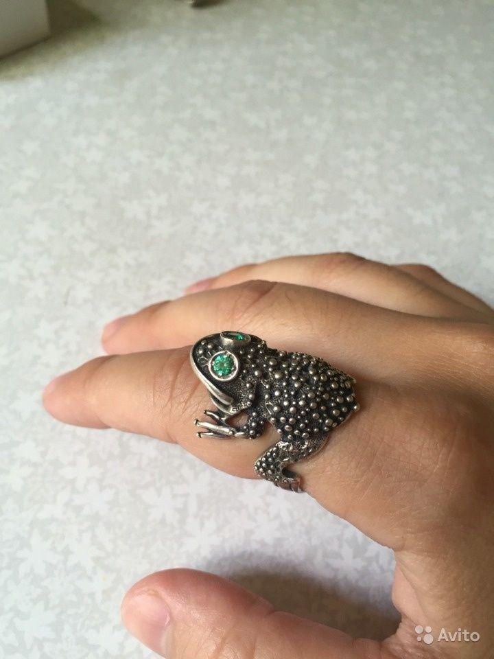 """Кольцо серебряное """"лягушка"""". Размер приблизительно 18.  1500 руб."""