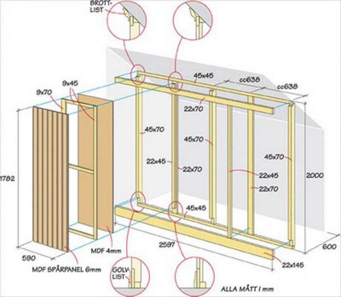 Zeer Voorbeeld van bouwtekening voor een kledingkast onder een schuine #IE61