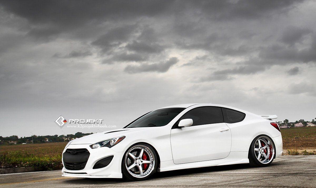 Hyundai genesis coupe white modified by k3 projekt