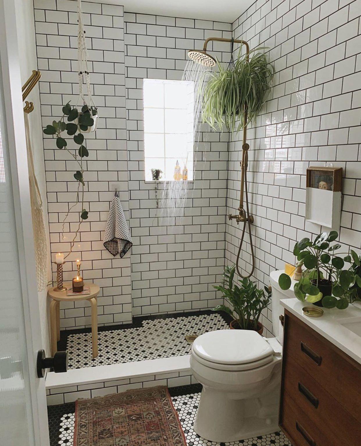Lush bathroom decor