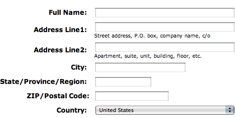 International Address Fields In Web Forms Uxmatters Web Forms Addressing This Or That Questions