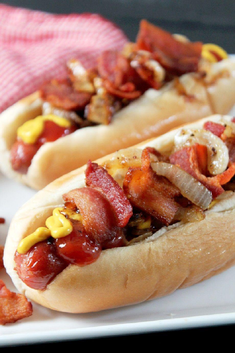 Bacon Hot Dogs are one my favorite ways to eat a hot dog
