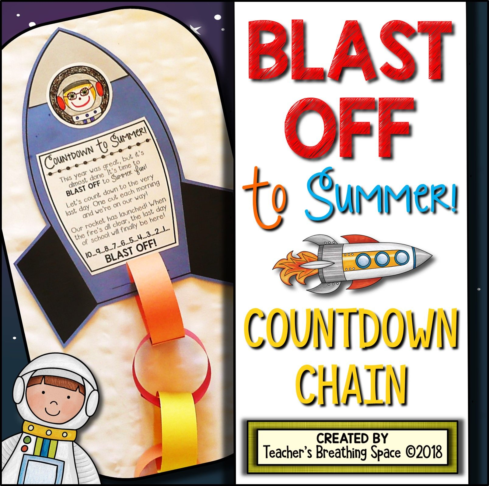 Summer Countdown Chain Blast Off To The Last Day Of