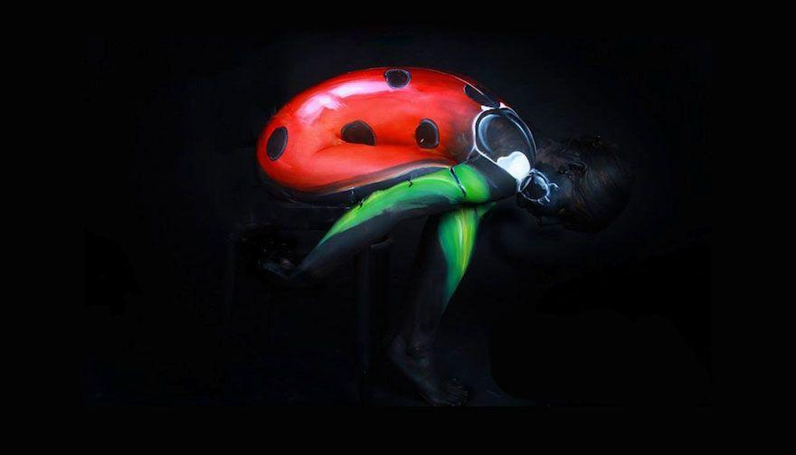 El Body Paint De Gesine Marwedel Fauna Que Habita El Cuerpo - Amazing body art transforms people animals human organs