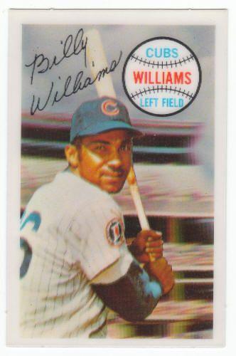 1970 Kelloggs 3 D Baseball Billy Williams 37 Exm 12 Baseball