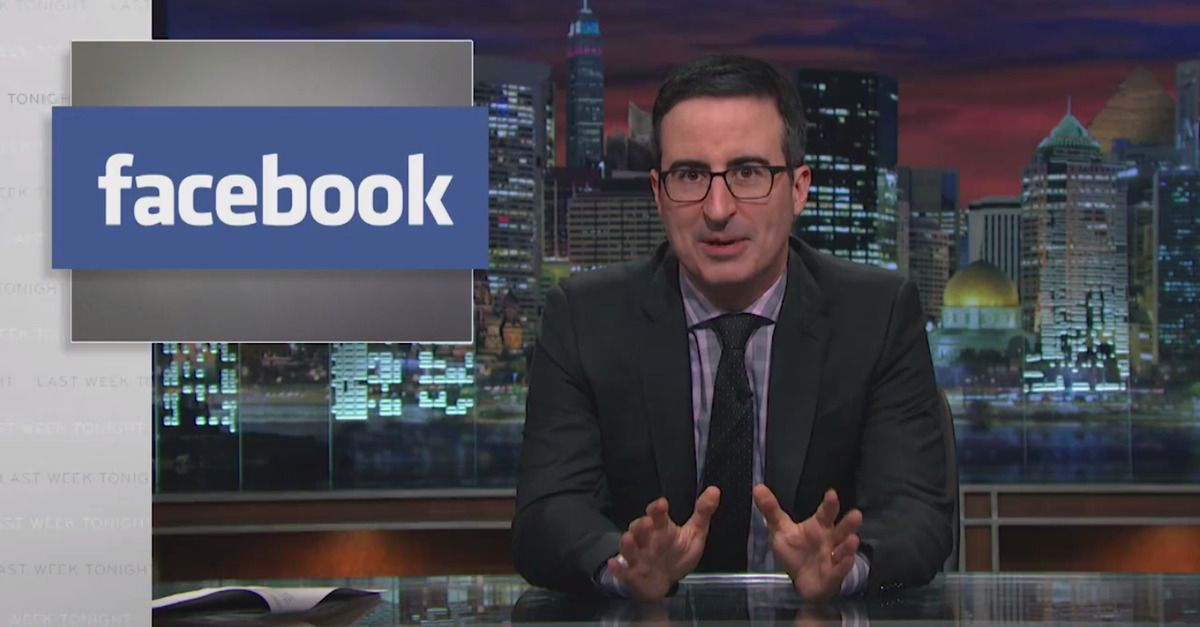 John Oliver explains what to put on Facebook to guard your privacy - privacy statement