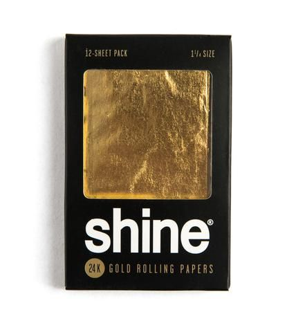 Shine 12 Sheet Pack Gold Rolling Papers Stonergifts Rolling Paper